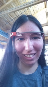 Me in a different colored Google Glass