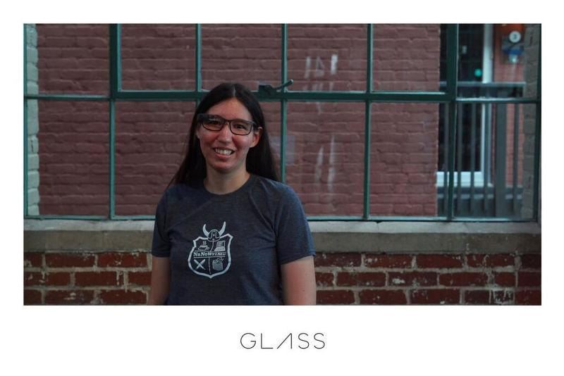 Me at the Google Glass Photo Booth