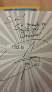 Signed copy of Lock In